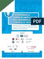 Programa II Conferencia Sobre Planificación Del Desarrollo J. G. H. Olivera