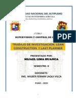 LEAN CONTRUCTION Y LAST PLANNER