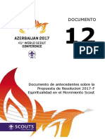 ConfDoc12_Baku2017_Background Document Regarding Resolution 2017-F Spirituality in Scouting_ESP