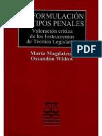 La formulación de tipos penales. Valoración crítica de los Instrumentos de Técnica Legislativa con portada.pdf