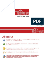 Garden Barn HORECA Company Profile (August 2018)