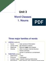 Unit 3.Word Classes.nounS