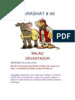 Parashat Balaq # 40 Inf 6019