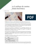 Cambio en El Catálogo de Cuentas de Contabilidad Electrónica 10-05-2019