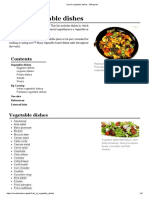 List of Vegetable Dishes