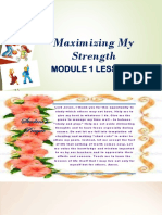 MODULE 1 LESSON 2 Maximizing My Strength.pptx