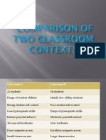 Comparison of Two Classroomss301ppt