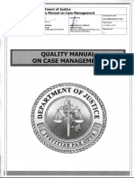 Quality Manual on Case Management - Revision 0