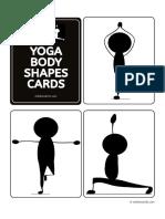 Yoga for Kids Body Shape Cards