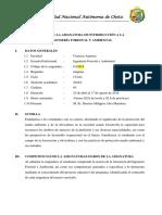 Sílabo Introducción a La Ingeniería Forestal y Ambiental