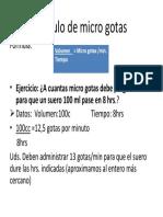 Cálculo de Microgotas