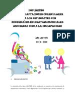 Documento de Las Adaptaciones Curriculares Alineados Al Pei en Vigencia