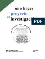 LIBRO = COMO HACER UN PROYECTO DE INVESTIGACION