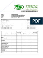 Concrete Pouring Request Form1