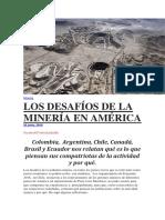 Desafíos en Minería