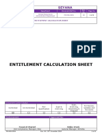 _fm-Hra-0054 Entitlement Calculation Sheet