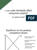 Monopoly Affects Consumer Surplus Activity 34