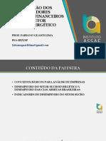 Fabiano Guasti - A Evolução Dos Indicadores Econômico Financeiros Do Setor Sucroenegético