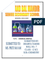 chemical kinetics project of class 12th