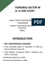 Ibd Case Study- Fdi in Automobile Sector In