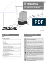 Manual de Utilizare Kit Poarta Culisanta Motorline Kit Bravo500
