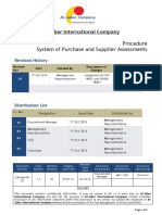 System of Purchase and Supplier Assessments