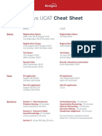 BMAT vs UCAT Cheat Sheet