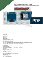 MicroPython ESP8266- ESP-12 Web Clock