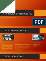 S10- Costos y Presupuestos-Ing. Anthony Alva C.