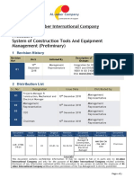 Procedure System of Construction Tools and Equipment Management (Preliminary)