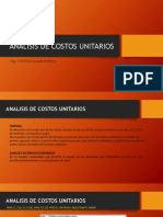 Analisis de Costos Unitarios Ing. Anthony Alva c