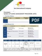 Procedure System of Flange Management Procedure (Site)