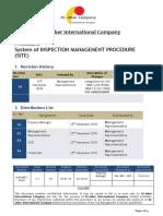 Procedure System of Inspection Management Procedure (Site)