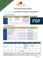 Procedure System of Plant & Equipment Management