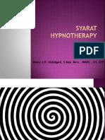 Syarat hipnoterapi