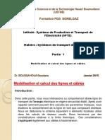 Systu00E8mes de Transport de l'u00E9lectricitu00E9 Partie-1 -Modu00E9lisation Et Calcul Des Lignes Et Cu00E2bles
