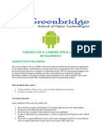 Certificate in Android Applications Development