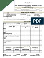 School Form 10 Sf10 Format