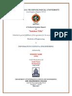 BE Seminar Format
