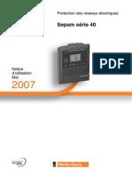 Notice Sepam Serie40 FR