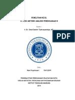 Penelitian Kecil - Metode Analisis Perencanaan I ITB