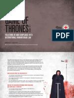 Australian Red Cross Games of Thrones Report