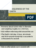 Uniqueness of the Earth
