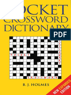 Pocket Crossword Dictionary Pdf Crossword Linguistics