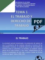 Tema 1. El Trabajo y El Derecho Del Trabajo