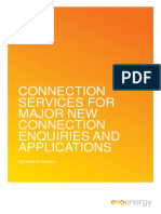 Connection Service Charges for Major New Connection Enquiries and Applications