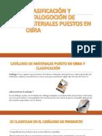 Catalogacion y Clasificaion de Los Materiales Para Su Entrega.