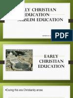 Early Christian Muslim Education (1)