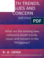 Health Trends, Issues and Concern