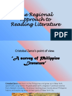 The Regional Approach to Reading Literature